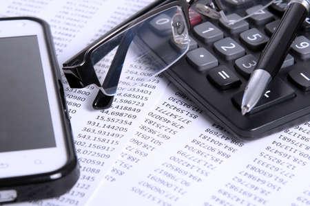 financiële en boekhoudkundige Stockfoto