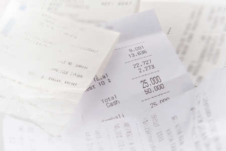 Sales receipts, natural tone photo