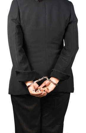 woman, Collar Criminal Under Arrest Stock Photo - 19596210