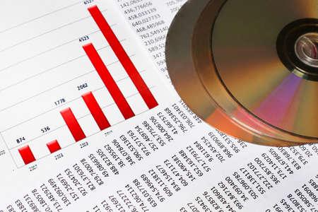 Financiële of boekhoudkundige concept - business grafiek