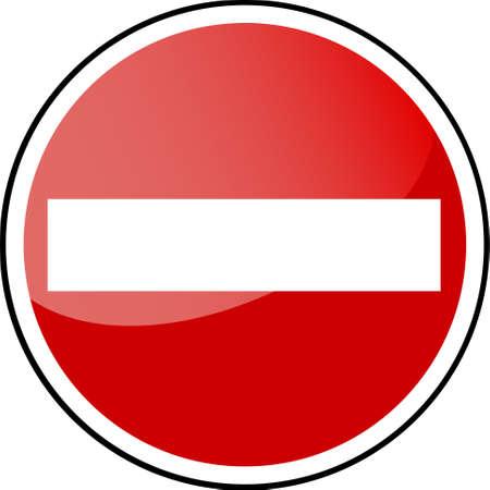 no entry sign: Traffic Sign - forbidden