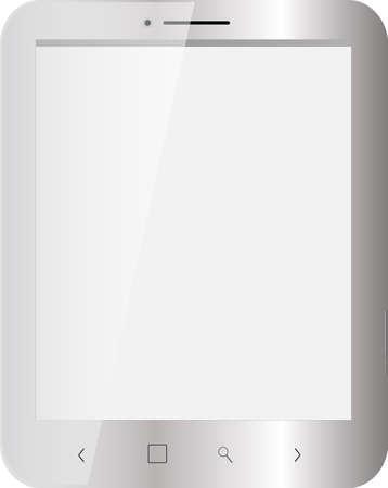 zilver Tablet, leeg scherm Stock Illustratie