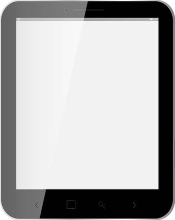 black Tablet, blank screen Vector