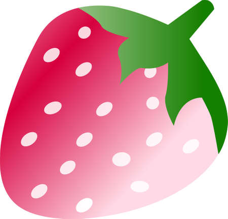 Cartoon strawberry, isolated on white background Vector