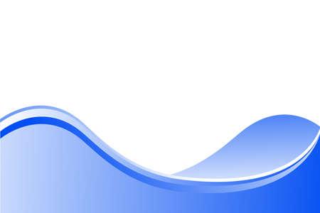 未来の青い波  イラスト・ベクター素材