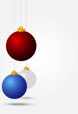 diverse kleur kerstballen Stock Illustratie