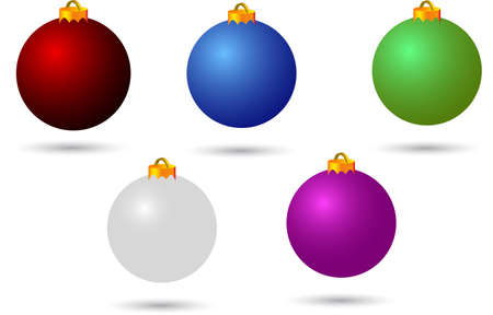 tannin: various colour christmas balls