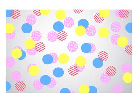 jaunty: multi colour Polka Dots on gray background