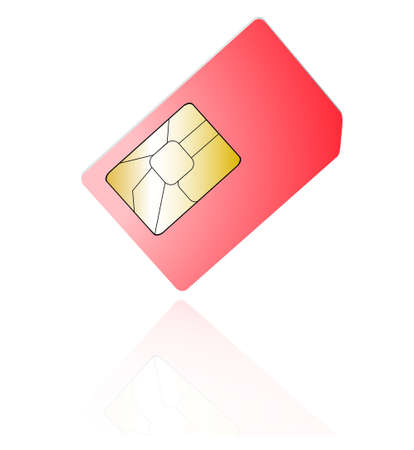 wireles: sim cards isolated on white background
