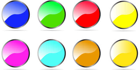 various color Glossy Rounded Button