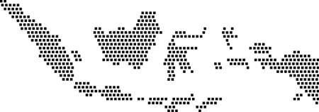 검은 사각형 - 인도네시아의지도 일러스트