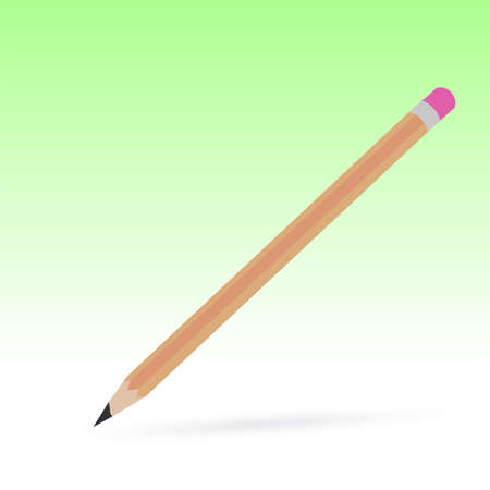 gradual: wooden pencil on white background