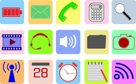 Set of Simple Icons Vector