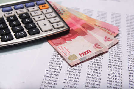 rupiah: Accounting and Finance Stock Photo