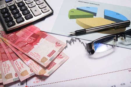 Boekhouding en financiën Stockfoto