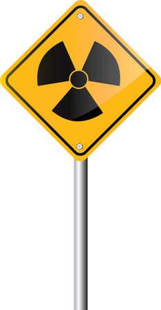 Radiation hazard symbol sign Stock Vector - 24919879