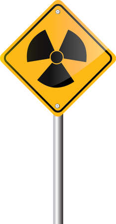 radiation hazard: Radiation hazard symbol sign Illustration
