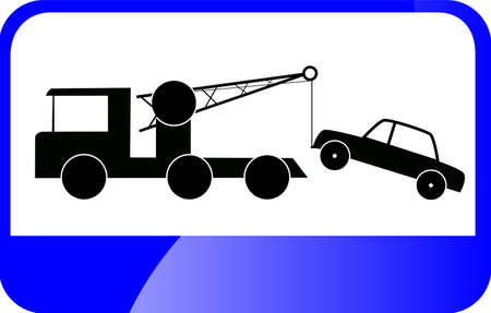 Traffic Sign - Tow Car Vector