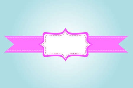 pink ribbon and greeting card Vector