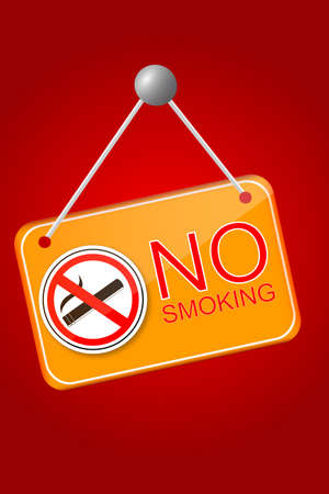 Shiny No Smoking Sign Vector