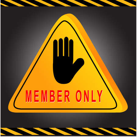 Sign Member Only Vector
