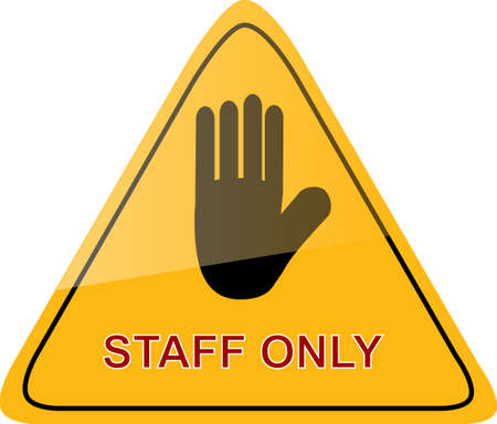 Sign Staff Only Vector