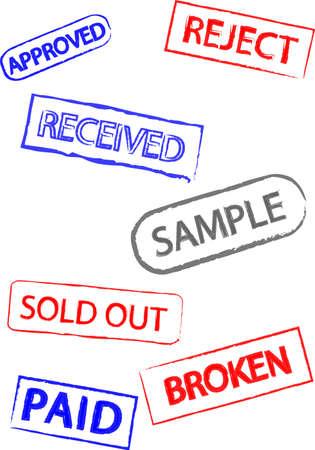 Conjunto de sellos de goma Foto de archivo - 24921295