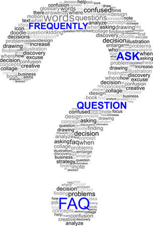 there: Frequently Ask Question symbol Illustration