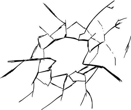 cracked glass: broken glass