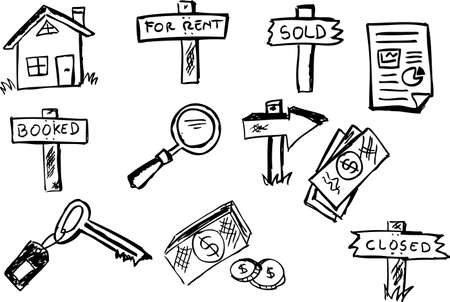 Business property symbols Vector