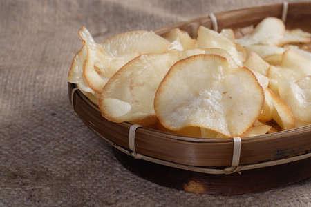 Chips Cassava Reklamní fotografie