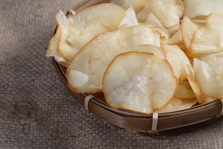 Chips Cassava Stock Photo