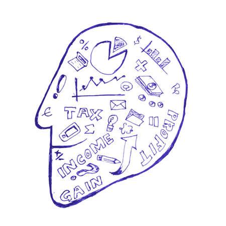 Accounting Symbol at Head