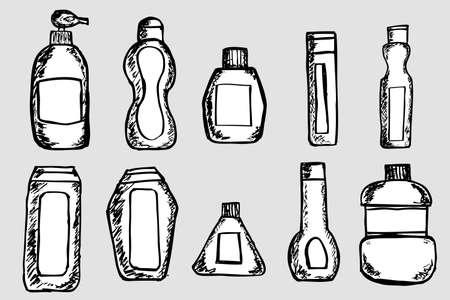 Set of Sketch Bottles Stock Vector - 29028461