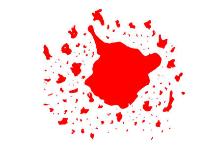 hand draw sketch of blood Vector