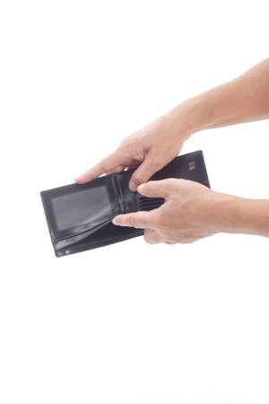 empty wallet: Empty Wallet on white background