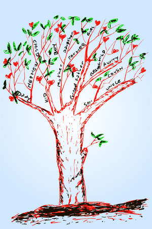 skecthy, family tree Vector