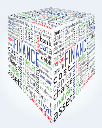deposit slips: for background - finance and accounting words Illustration