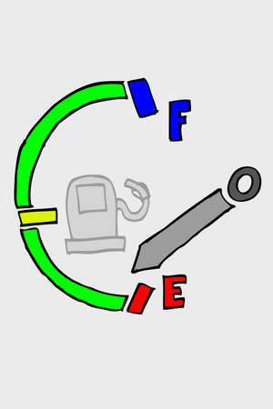 sketchy fuel meter Vector