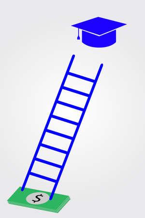 stair: Casquillo de la graduaci�n, el dinero y la escalera