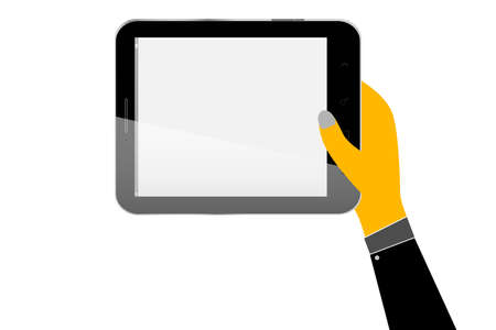 Hand Hold a Tablet Vector