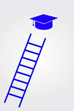 dan: Graduation cap dan stair