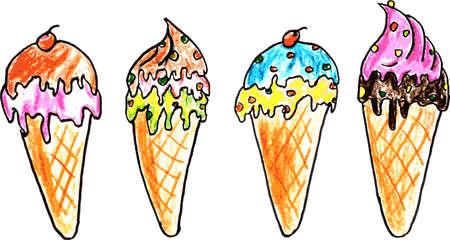 skecth: Hand Draw Skecth, Ice Cream