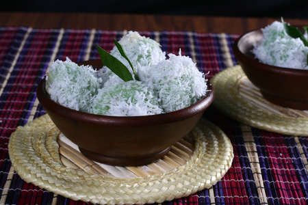 Klepon and getuk, indonesia traditional food Stock Photo