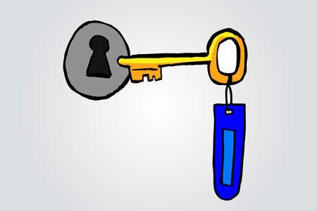 key hole: doodle key and key hole