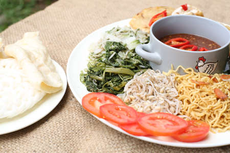 Pecel, indonesia traditional salad dish Stock Photo - 29756034