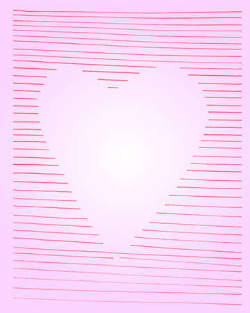 gradual: pink heart in white gradual background greeting card