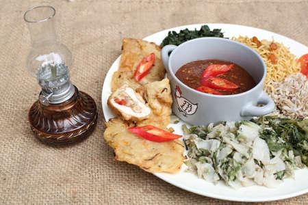 Pecel, indonesia traditional salad dish Stock Photo - 29989333