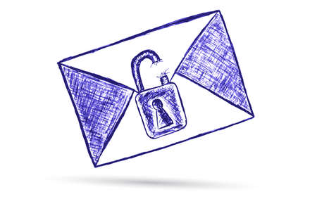office theft: Mail - Confidential Illustration