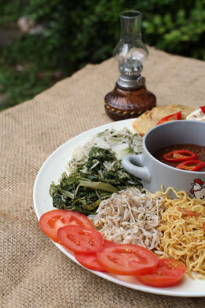 Pecel, indonesia traditional salad dish